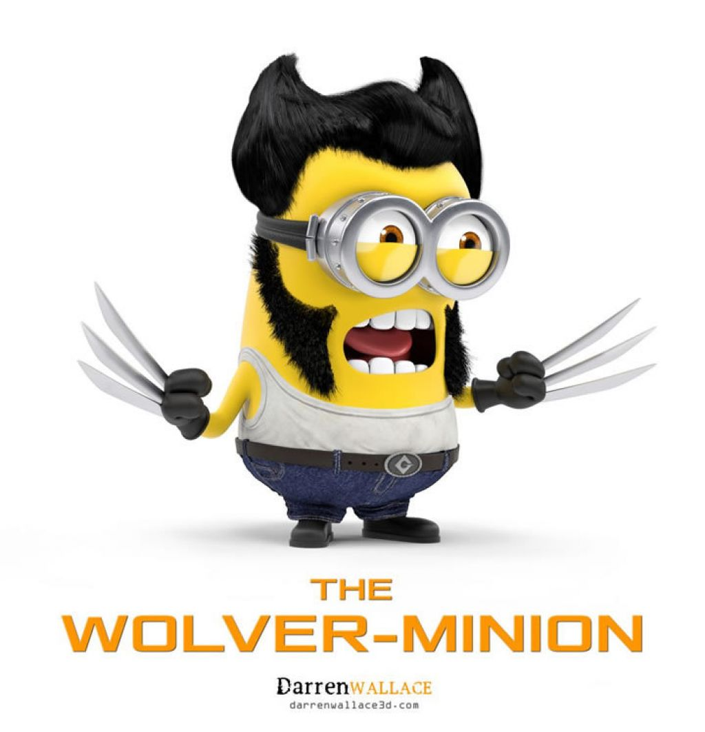 minion4 Movie Heroes as Minions