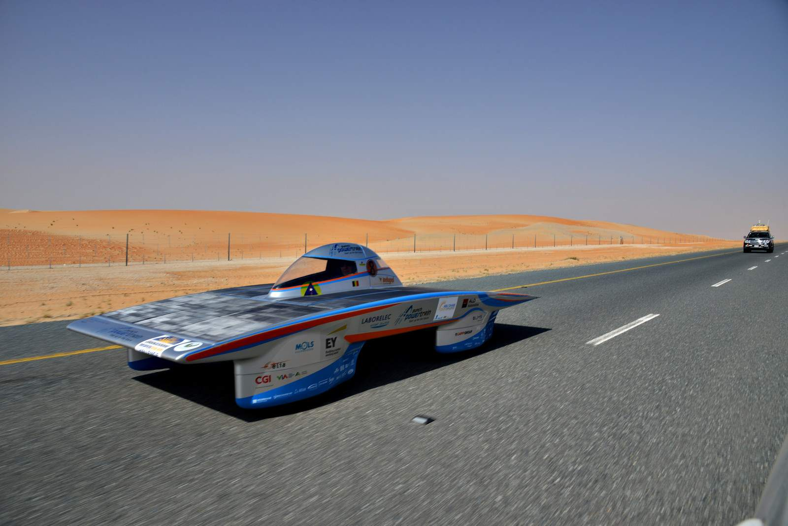 solar challenge Abu Dhabi Solar Challenge   Victory for Michigan University Team