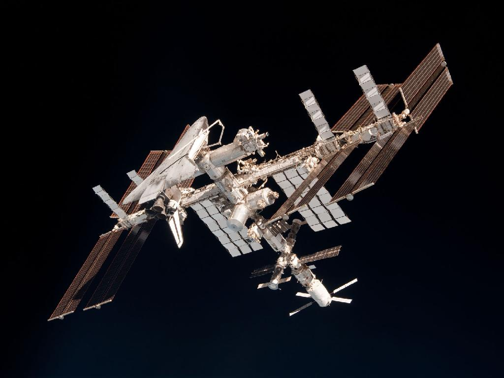 international space station4 The International Space Station and the Docked Endeavour
