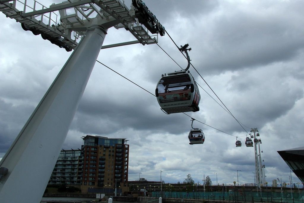 emirates air line6 London Olympics 2012   Cable Car over Thames