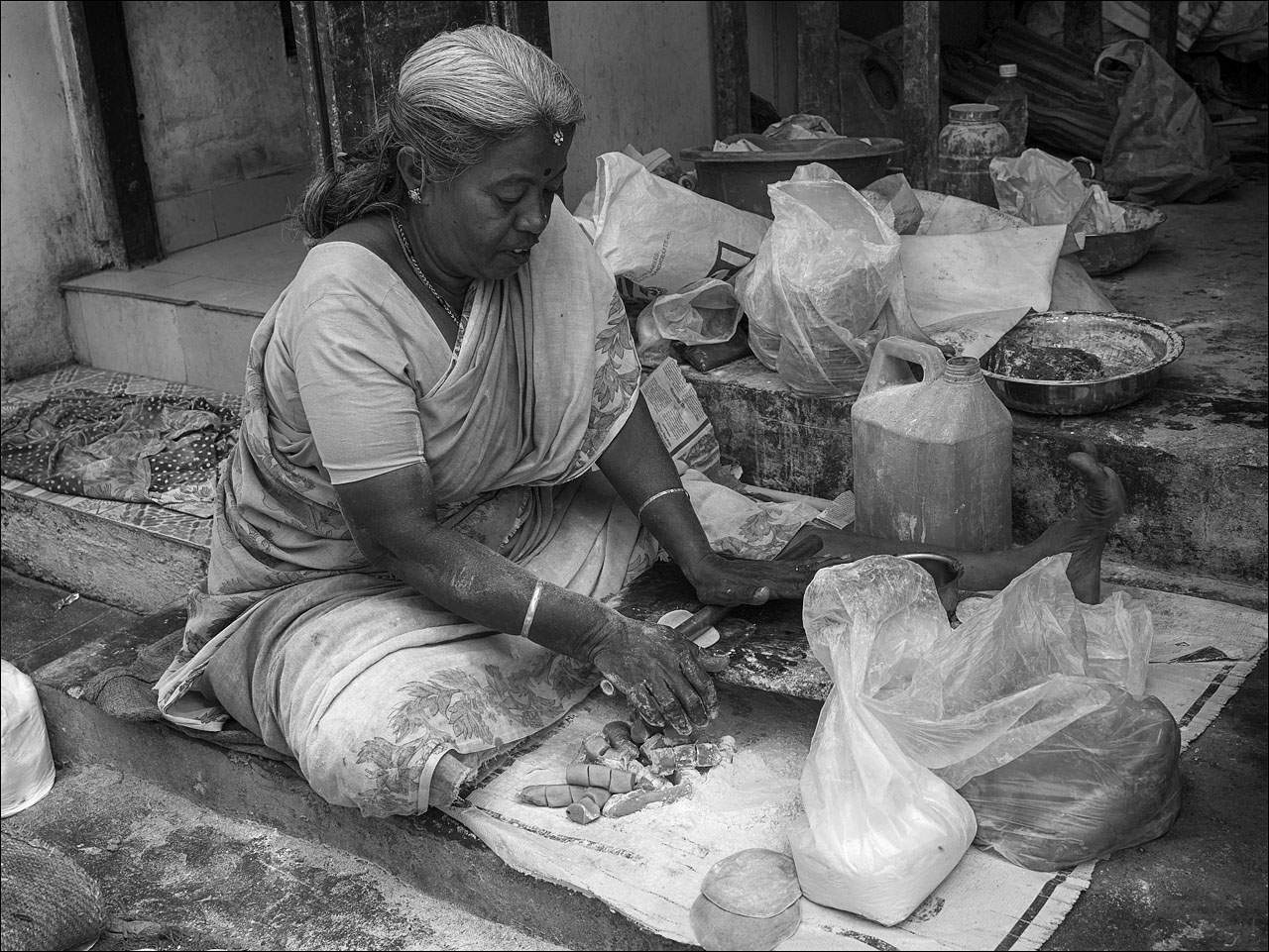 people india Daily Life of People in India   Black and White
