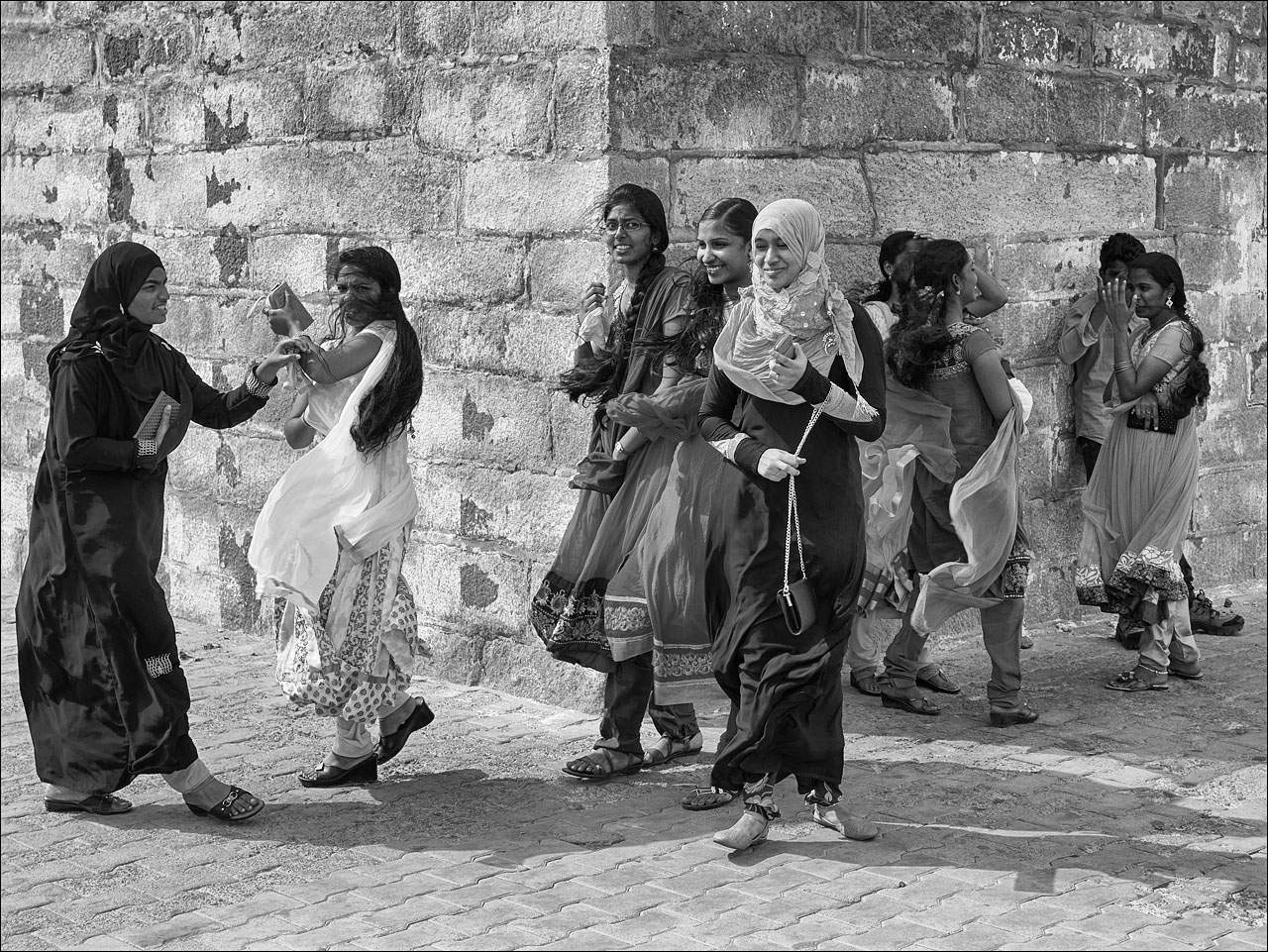 people india16 Daily Life of People in India   Black and White