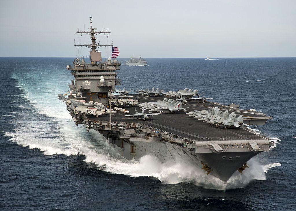 uss enterprise1 The Worlds First Nuclear powered Aircraft Carrier Shut Down Reactors
