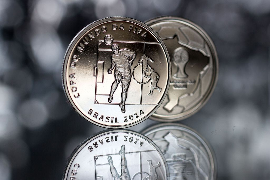 2014 brazil9 Commemorative Coins of the FIFA World Cup 2014 in Brazil