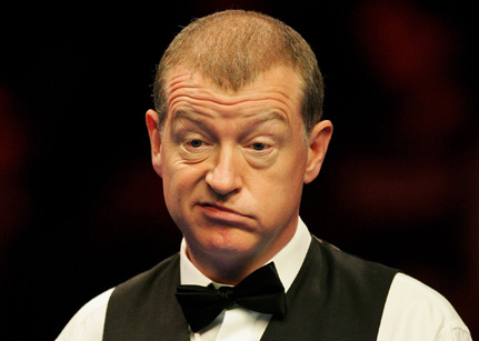 steve davis Snooker Legend Steve Davis at Crucible Theatre
