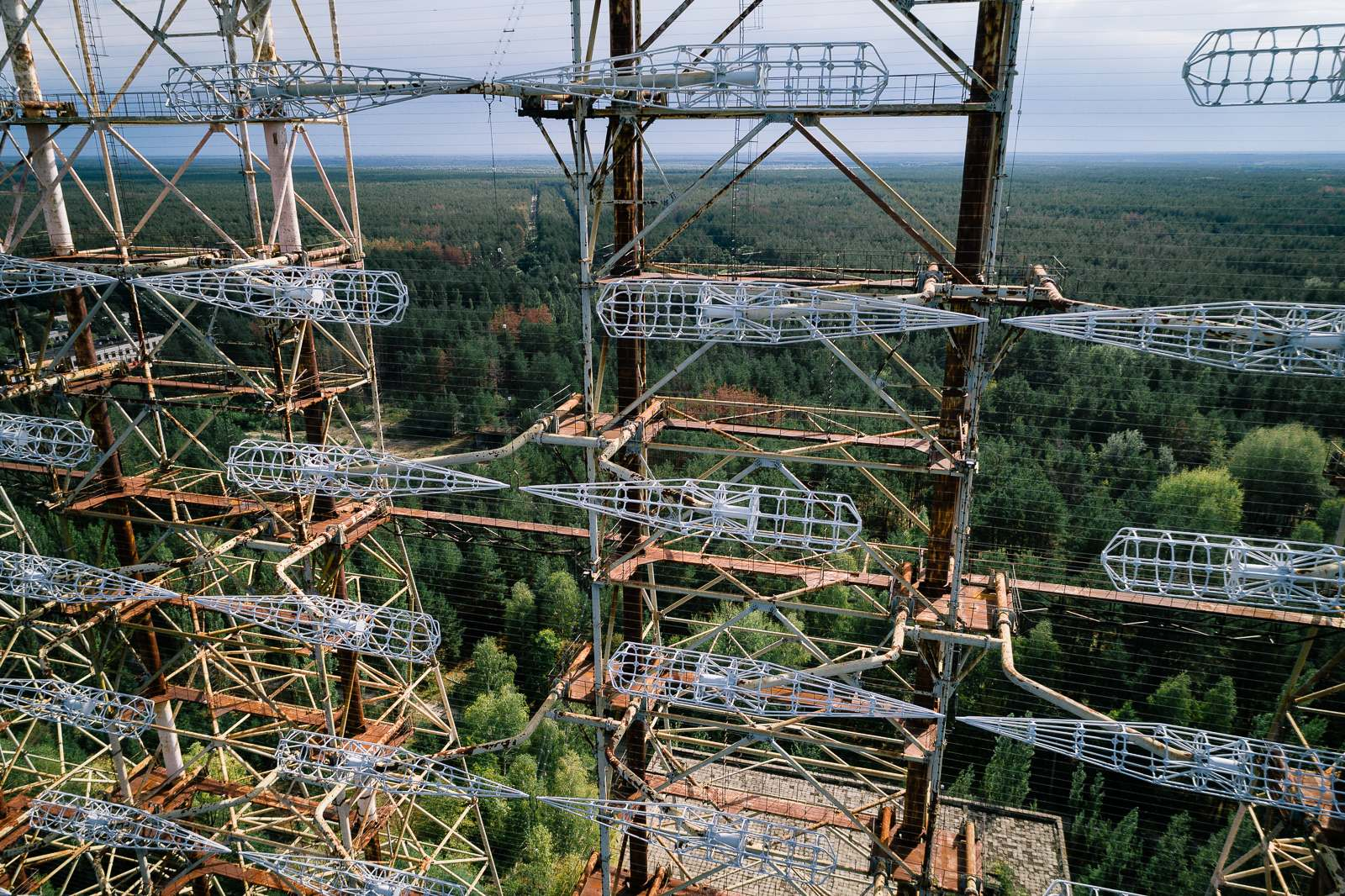 duga1 Duga known as the Russian Woodpecker   Military Radar Station in Chernobyls Irradiated Forest