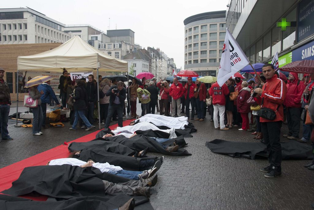 rana plaza Rana Plaza Disaster   Protest after One Year in Brussels