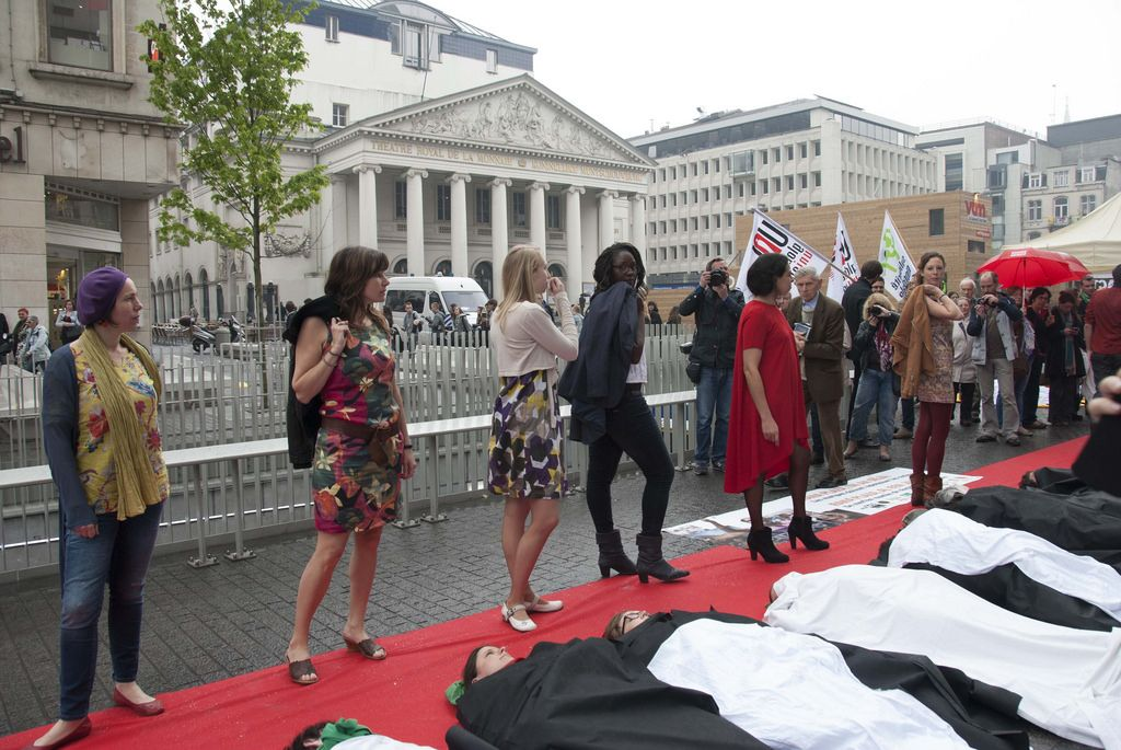 rana plaza3 Rana Plaza Disaster   Protest after One Year in Brussels