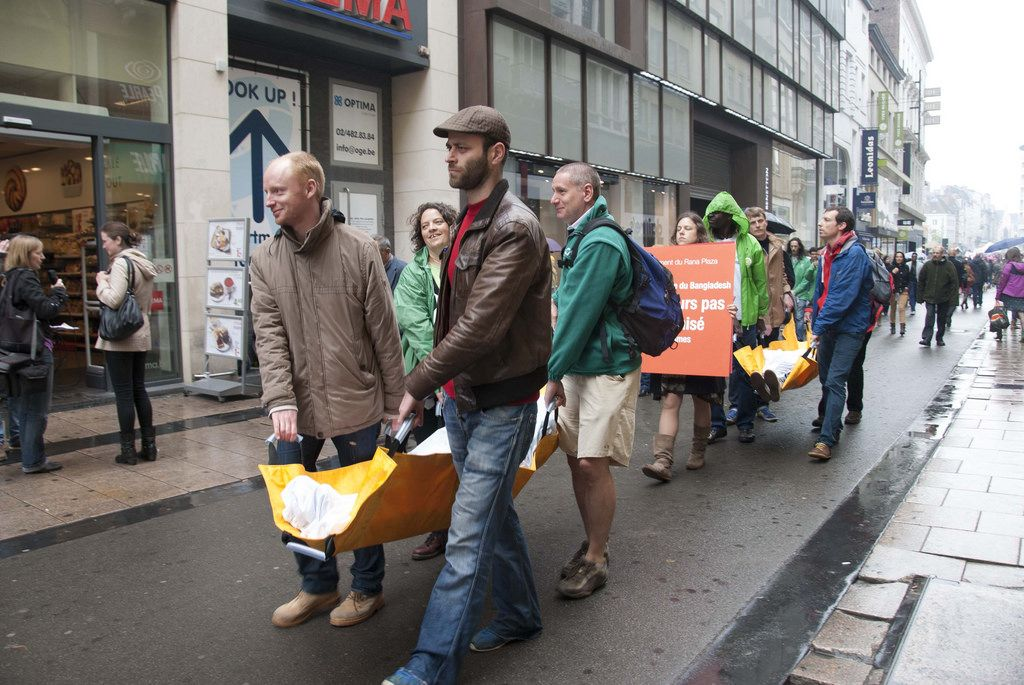 rana plaza4 Rana Plaza Disaster   Protest after One Year in Brussels