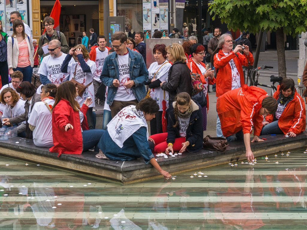 rana plaza6 Rana Plaza Disaster   Protest after One Year in Brussels