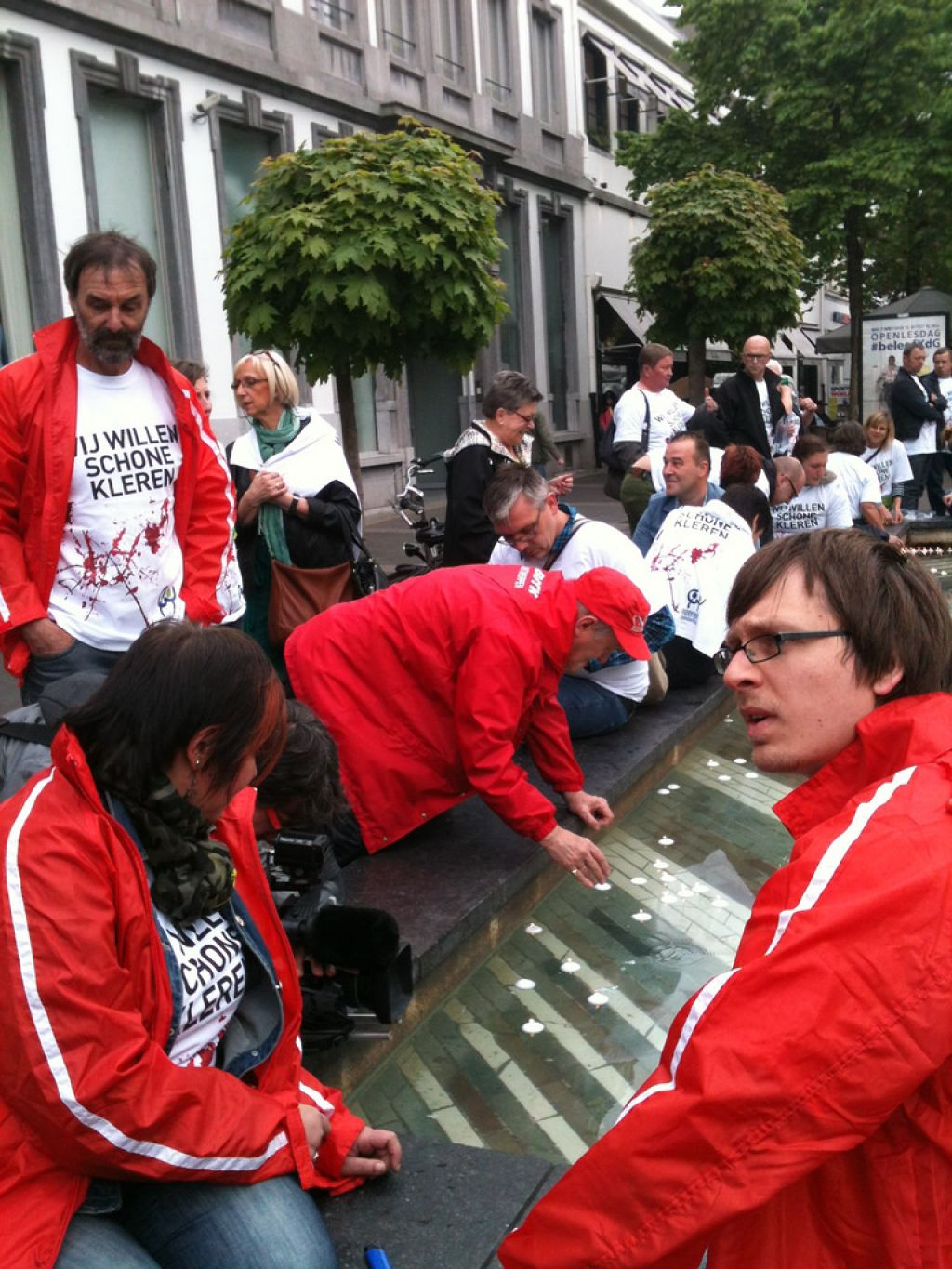 rana plaza7 Rana Plaza Disaster   Protest after One Year in Brussels