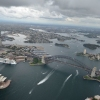 Helicopter flight over Sydney