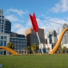 Cupids Span Sculpture in Rincon Park, San Francisco