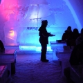 Finnish Snow Castle with Ice Bar