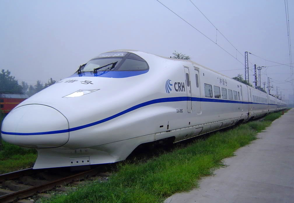 high speed trains2 The Wuhan–Guangzhou High Speed Railway in China ( 350 km/h )