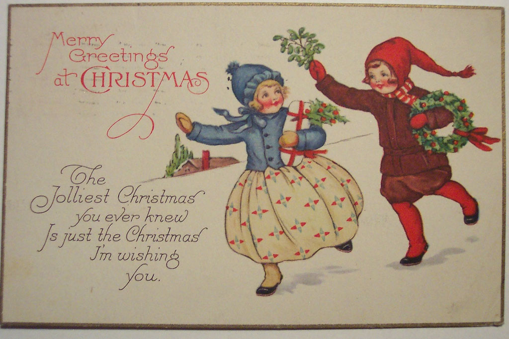 christmas card7 Best Vintage Christmas Card and Wishes