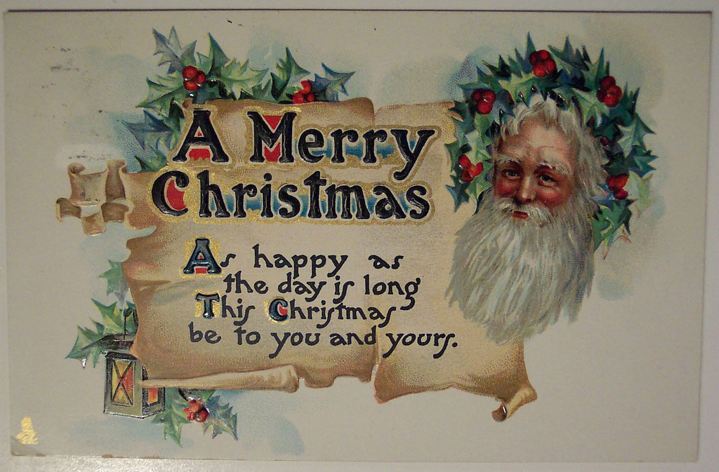 christmas card8 Best Vintage Christmas Card and Wishes