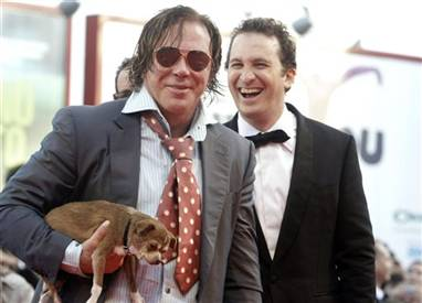 mickey rourke chihuahua Rourke's beloved Chihuahua dies in his arms