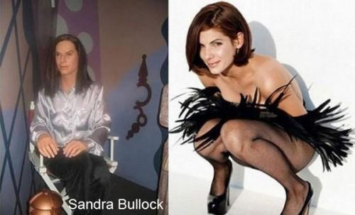 sandra bullock wax 500x303 Celebrity Wax Figures Fail